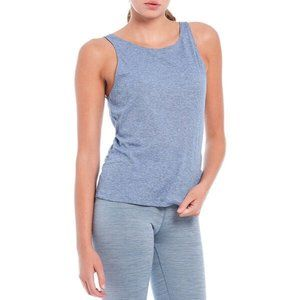 Nike Yoga Blue Ruche Dri-Fit Active Tank Top Sz XS